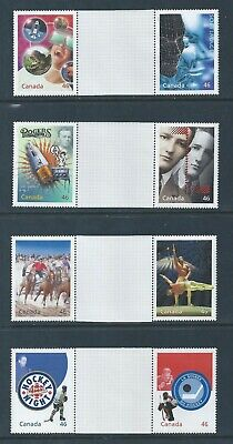 Canada 1818 - 1834 Millennium Collection Gutter Pairs MNH *** Free Shipping ***