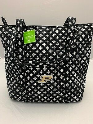 acbf9efe08 Vera Bradley Collegiate Purdue University XL Vera Tote Book Travel Bag  Purse NWT