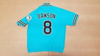 536396549b3 Andre Dawson 1995 Florida Marlins Mitchell   Ness Practice Zip Jersey Size  Large