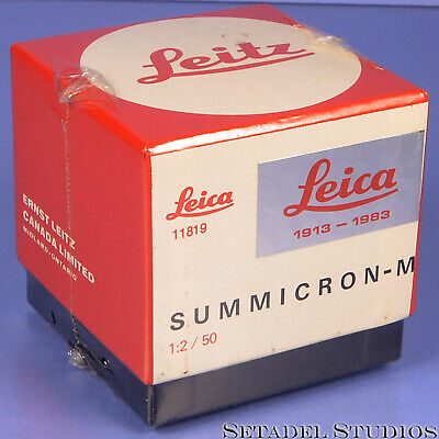 Leica Leitz 50Mm Summicron-M F2 70 Jahre Ann Black 11819 V4 M Lens New In Box