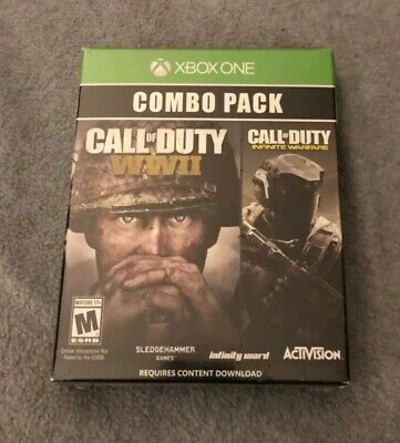 Xbox One Call of Duty WWII & Infinite Warfare Combo Pack , BRAND NEW, SEALED