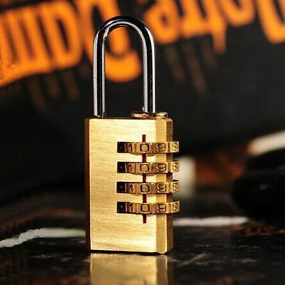 Mini 4Digit Dial Combination Password Code Lock Resettable Luggage Metal Padlock