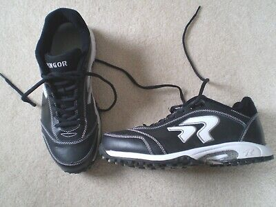 b2f8fb086d4 RINGOR SOFTBALL INDOOR Turf Cleat Black White Womens Size 10 ...