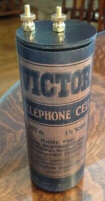Antique Refillable #6 Victor Dry Cell Battery Telephone, Radio, Lantern