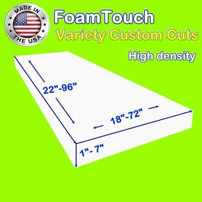 Variety of FoamTouch High Density Custom Cut Upholstery Foam Cushion Replacement