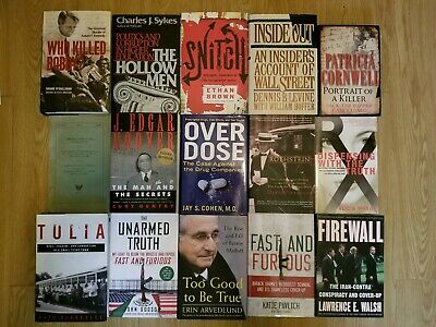 True Crime/Conspiracy Lot: Iran-Contra, Gun Running Fast and Furious, Big Pharma