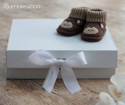 Medium White Gift Box With Ribbon | FREE Delivery