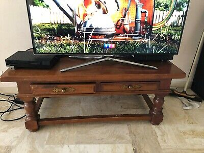 Parfait Meuble TV Vintage Table Basse Table De Salon Grande Dimension L120 H45 L60  2tir