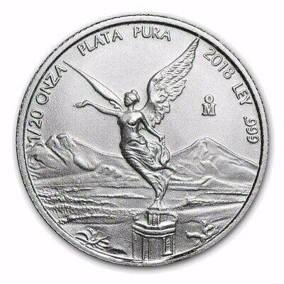 2018 Mexico Libertad 1/20 oz .999 Silver BU Round Very Limited Bullion Coin