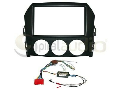 SWC Radio Dash Kit Combo Standard 2DIN Buttons Relocation Kit Antenna MB32