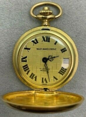 Working Vintage Bailey Banks & Biddle Pocket Watch 17 jewels Incabloc Movement