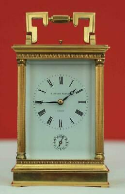 Matthew Norman Swiss 8 Day Alarm Repeater Grande Corinthian Carriage Clock