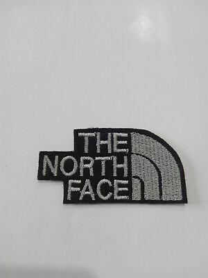 Parche bordado para coser estilo The north face 7/3,5 cm , Gris adorno ropa