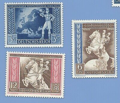 Germany Nazi Third Reich 1942 Post Congress Wien stamp set  WW2 ERA #M