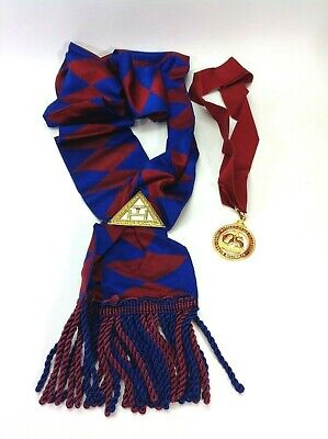 Two Vintage Lodge Medals / Sashes