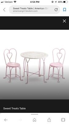 Magnificent American Girl Sweet Treats Pink Table Two Chairs Nib Machost Co Dining Chair Design Ideas Machostcouk