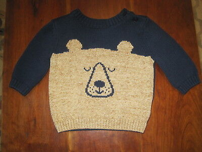 06f57e850b5f BABY BOY GAP Cable Knit Sweater Navy size 3-6 Months holiday infant ...