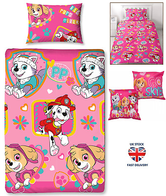 PAW PATROL DUVET COVER SET 'FOREVER' Single Double Sizes Cushion Reversible Sets