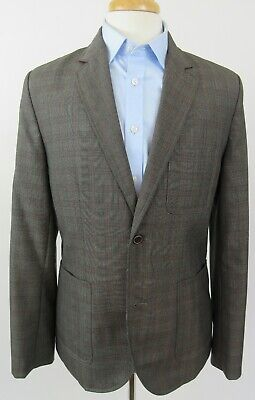 TOMMY HILFIGER NYC Wool Blend Sport Coat Blazer, Med, MultiColor Glen Plaid NWOT