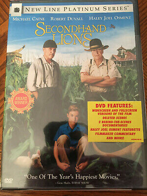 NEW Secondhand Lions (DVD, 2004, Platinum Series) Widescreen, Fast FREE Shipping