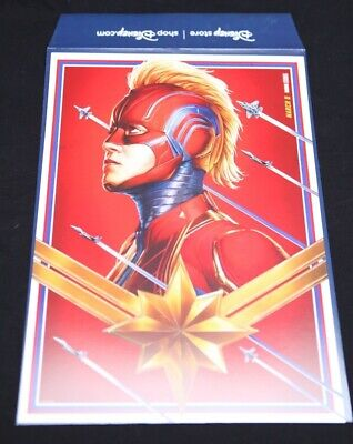 Marvel Studios Captain Marvel Disney Store Lithograph Poster Limited Release New