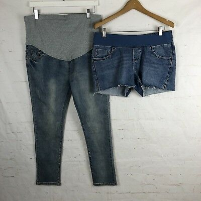 Asos NWT Maternity Shorts And NWT Jeans Sz 12 Blue