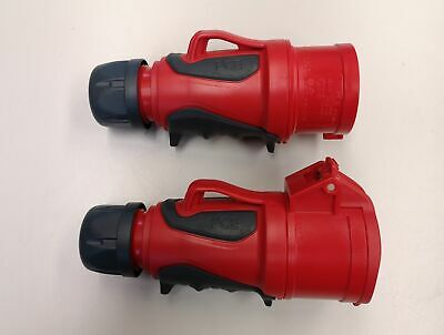 Pce Grip Ip44 Cee 16a 5p Red Set Plug and Clutch 5 Pin