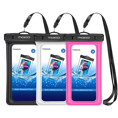 MoKo Floating Waterproof Case [3 Pack], Underwater Phone Pouch Dry Bag with Lany
