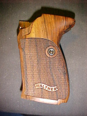 Walther P5 Fine English Walnut Checkered Pistol Grips w/Banner Logo Beautiful!