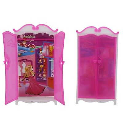 Mini Princess Furniture Wardrobe Dreamlike Dolls Playing House Dollhouse for Kid