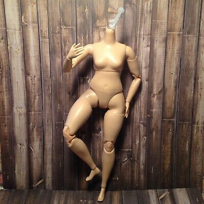 Barbie Doll Made to Move Curvy Body Articulated MTM Yoga Pale Light Skin  OOAK