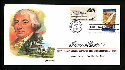 US FDC #2360 Constitution Bicentennial Signers 1987 South Carolina SC P. Butler
