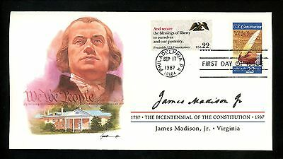 US FDC #2360 Constitution Bicentennial Signers 1987 Virginia VA James Madison Jr