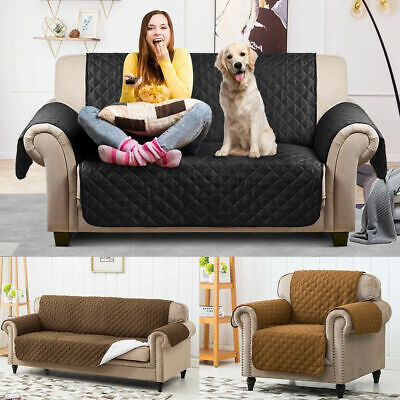 Reversible 1/2/3 Seaters Waterproof Sofa Cover Furniture Pet Dog Protector Throw