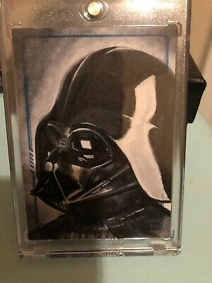 Star Wars masterwork 2017 matt applegate ap darth vader sketch card