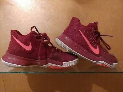 93bce0b8a691 NIKE KYRIE 3 GS Boys Sz 6.5Y Shoes 859466-610 Youth Kid Gym Red New ...