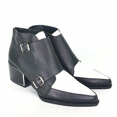 664c2022fce28 Circus By Sam Edelman Booties Black White Pointy Black Heel Size 8 M Buckles