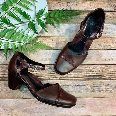 ad1df697c23 DANSKO WOMENS ROXY Roxie Ankle Strap Pumps Heels Shoes Brown Dress ...