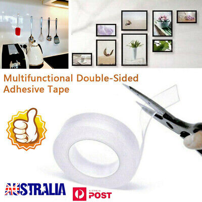 1/3/5M Multifunctional Double-Sided Traceless Washable Adhesive Tape 2019 New UE