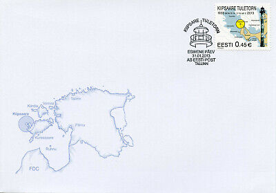 Estonia 2013 FDC Kiipsaare Lighthouse 1v Cover Lighthouses Architecture Stamps