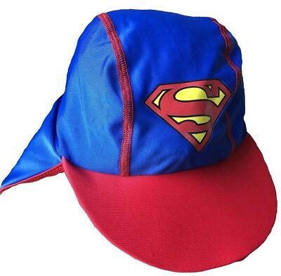 Superman Boys Sun Hat with UPF 40 Protection and Neck Cover 3-5 Years