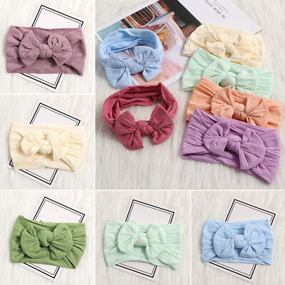 Newborn Baby Rabbit Headband Cotton Elastic Bowknot Hair Band Girls Bow-knot