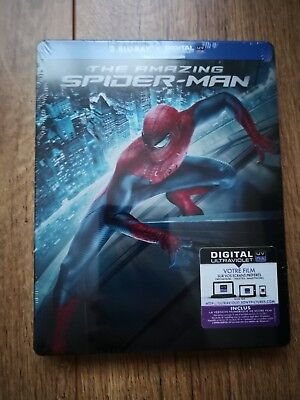 Double BLURAY : The Amazing Spider-Man - Steelbook - NEUF