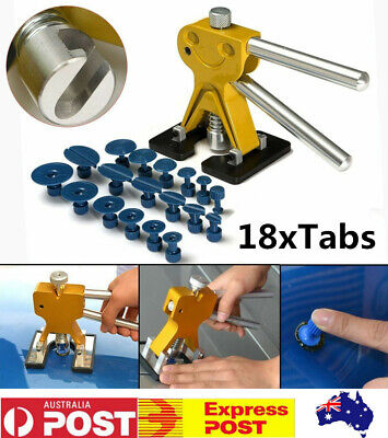 Car Paintless Dent Repair Tool Dint Hail Damage Remover Puller 1 Lifter 18 Tab