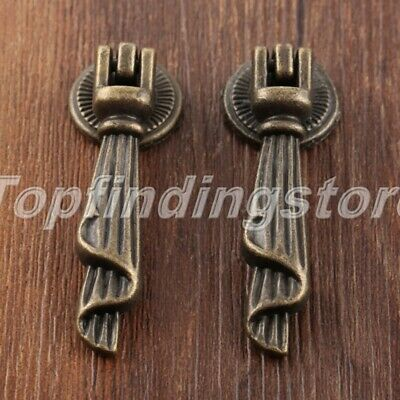 UK STOCK Vintage Door Pull Handles Hardware Cupboard Drawer Drop Cabinet Knobs