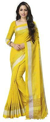 Women's Linen Cotton Saree with Blouse Piece J-09