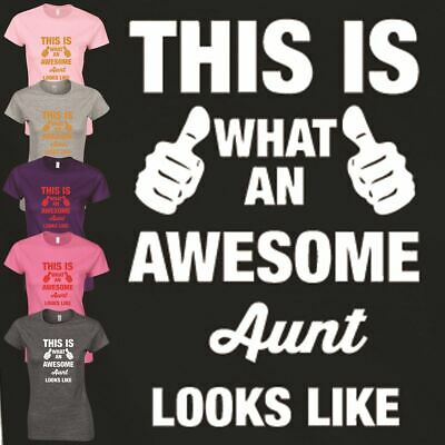Aunt Look Like Top Mothers Day T Shirt Funny Inspired Gift Ladies Happy Present