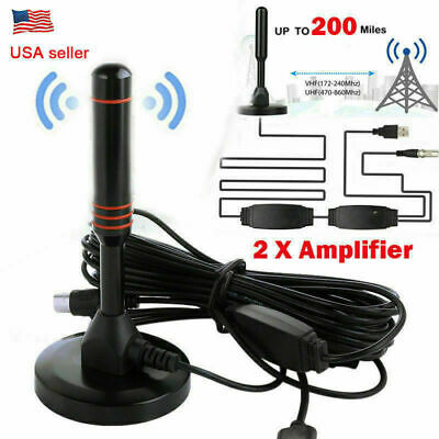 For Antenna TV Digital HD 200 Mile Sky wire Indoor 1080P 4K 16ft Coax Cable USA