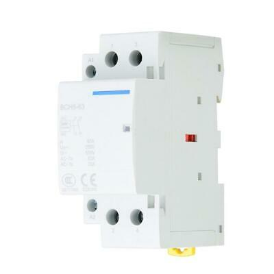 2P 25A 24V 220V/230V 50/60Hz Household AC Contactor 35mm DIN Rail Mount 250VAC