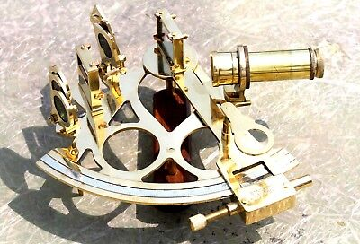 Vintage Marine Solid Brass Sextant Decorative Replica Gift Working Astrolabe.